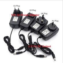 100-240Vac entrée 12VDC alimentation, 12W à 36W led bande pilote transformateur déclairage, ue AU usa royaume-uni Plug 5.5 * 2.5DC adaptateur secteur