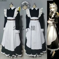 customized anime arknights kaltsit rhodes island maid dress lovely uniform cosplay costume halloween party role play outfit