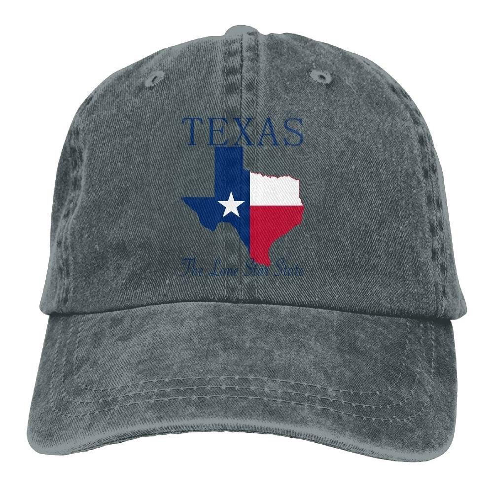 Sombrero de tela de vaquero Texas The Lone Star State gorras de béisbol bajas ajustables para hombre