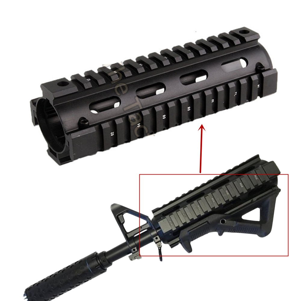 vector optics 12 inch ras free float handguard quad picatinny rail onepiece 223 5 56 extended carbine length a2 style AR-15 M4 Handguard Quad Rail 2-Piece Drop-In Mounting Handguard Picatinny Rail Slim Hunting Tactical Carbine 6.7 Inch RIS