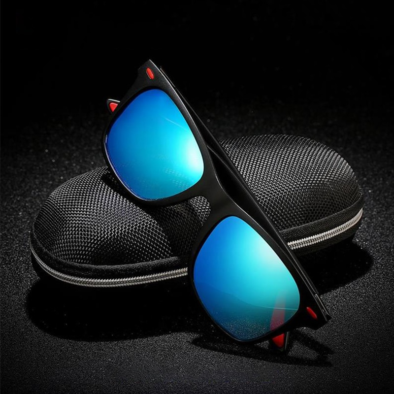 Classic Square Polarized Sunglasses Men's Driving Goggles Rivet Mirror Men's Sunglasses Ladies Retro