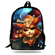 Nuevos niños mochilas para el enlace perdido gnar impreso mochilas de escuela para niñas niños de viaje mochila bolso de escuela