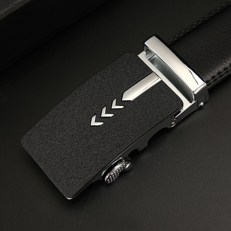 Peikong Automatic buckle genuine leather mens belts luxury high quality business casual designer male waist fashion corset belt