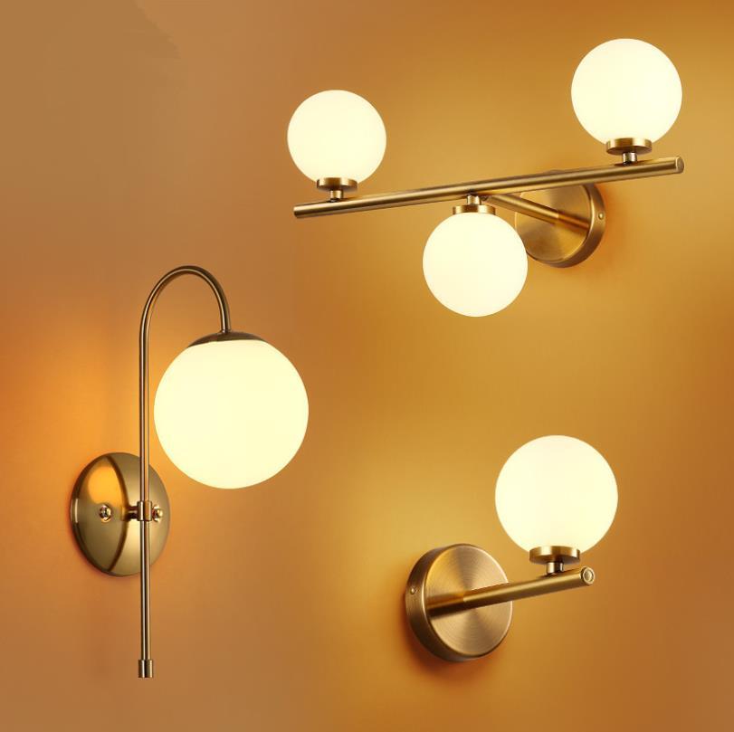 Promoción nórdica, lámparas LED de pared, bola de cristal, luces de pared, iluminación de pared para sala de estar, dormitorio artístico, montado en la pared, Moderno
