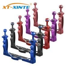 XT-XINTE plongée poignée plateau support support Portable double poche reflex support de cadre pour Sony/Canon/Nikon/Panasonic/Olympus appareils photo
