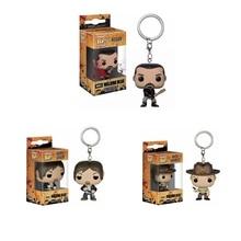 Funko Pop Poche The Walking Dead Porte-clés Daryl Dixon Rick Grimes Negan Figurine Jouets