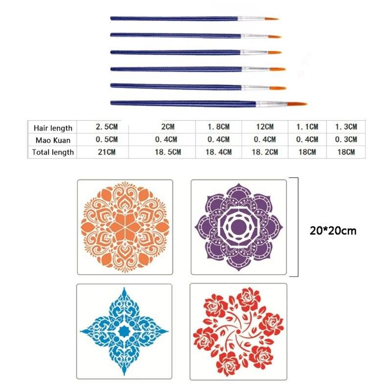 20pcs/set Mandala Dotting Drawing Pen Tools for DIY Painting Brush Craft Stencil enlarge