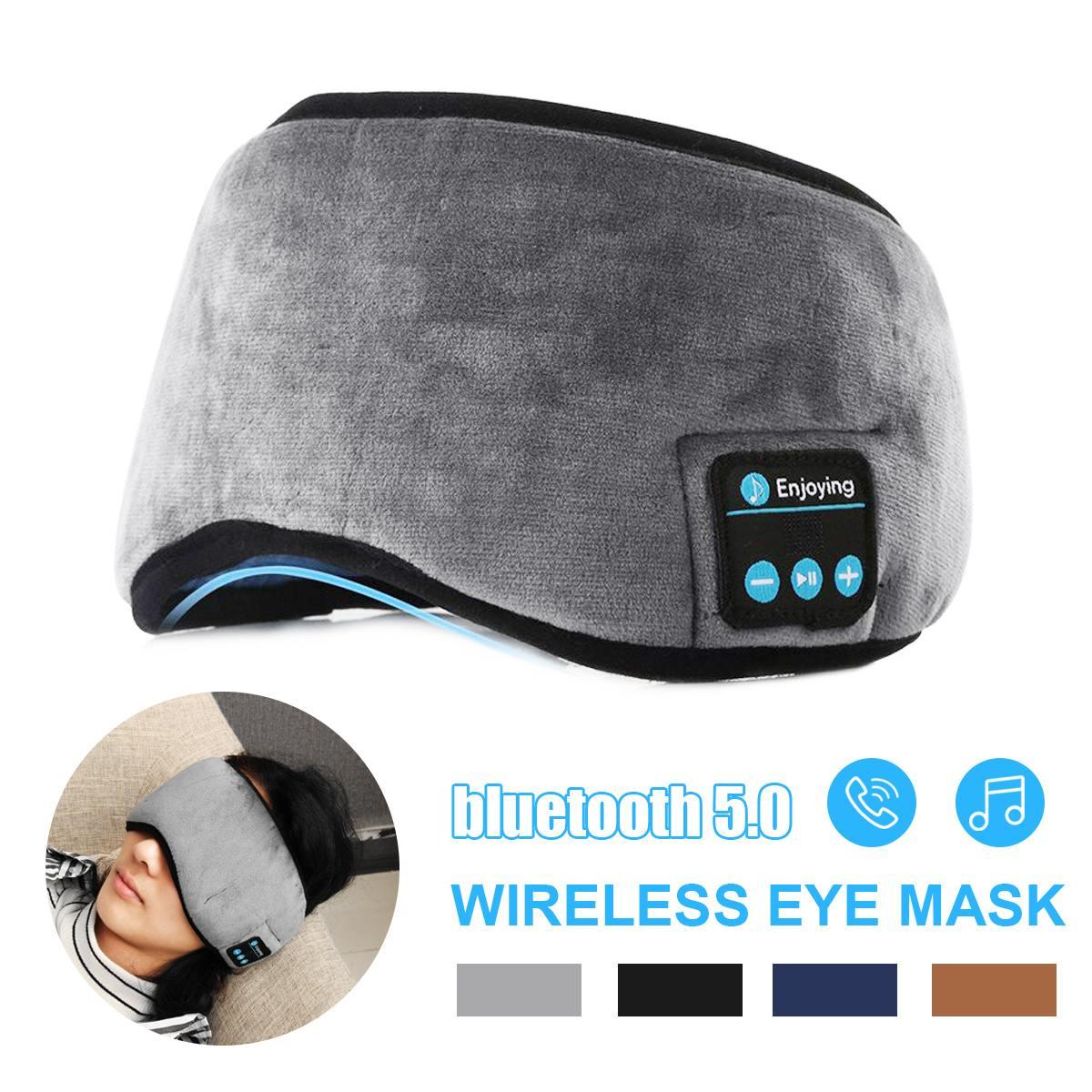 Fones de Ouvido sem Fio Máscara de Olho Fone de Ouvido Máscaras de Olho com Built-in Bluetooth Estéreo Música Sono Viagens Alto-falantes Mic 5.0