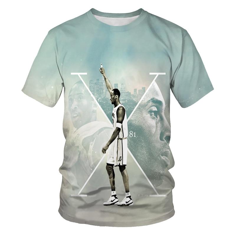 Fashion round neck sports t-shirt basketball star print short-sleeved t-shirt men's casual t-shirt men's clothing t-shirt for me casual letter print round neck t shirt pants twinset for kids