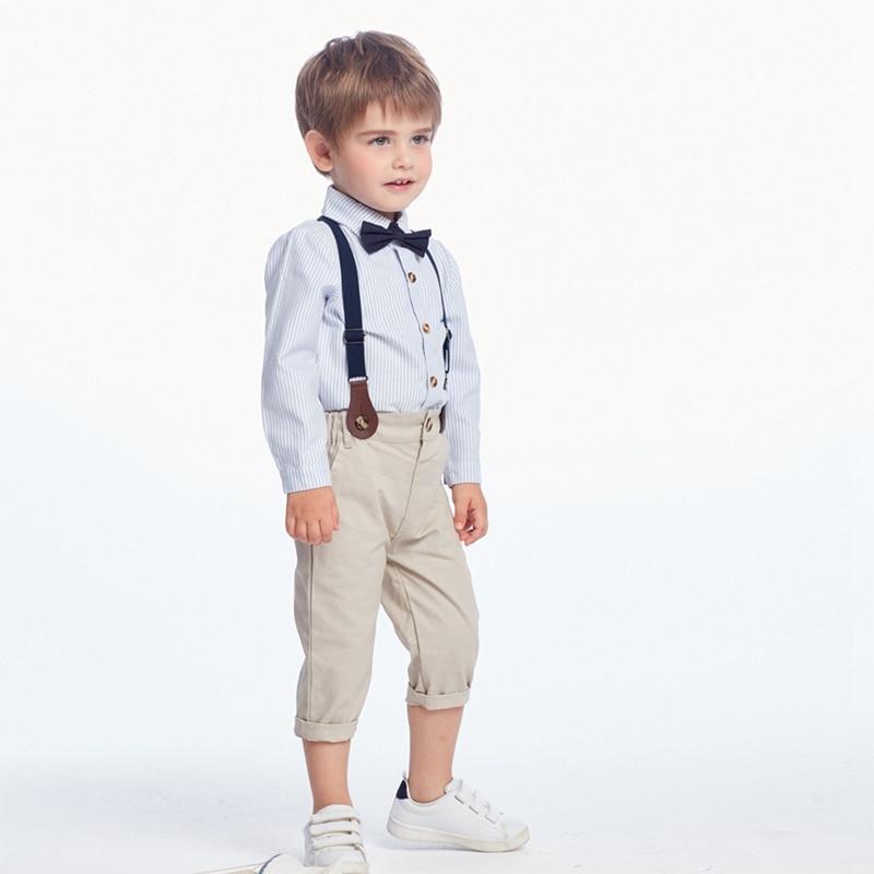 Trajes de ropa para bebés 2019 otoño moda para bebés niños ropa de cumpleaños traje para niños traje de fiesta para bebés Caballero 3 uds conjuntos de ropa