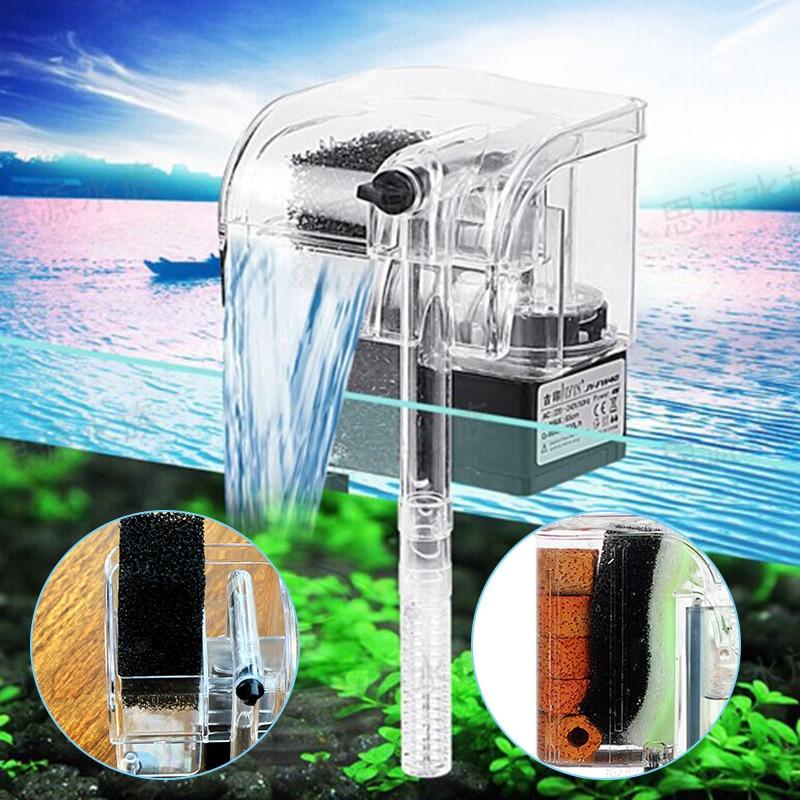 3 In 1 Aquarium Filter Water Oxygen Pump For Fish Tank Filter Circulation Pump Mini Aquarium Waterfall Filter