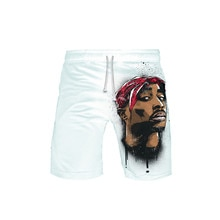 Hip Hop Gangsta Rap 2Pac stroje kąpielowe szorty szorty plażowe spodnie pływackie stroje kąpielowe męskie spodenki sportowe do biegania