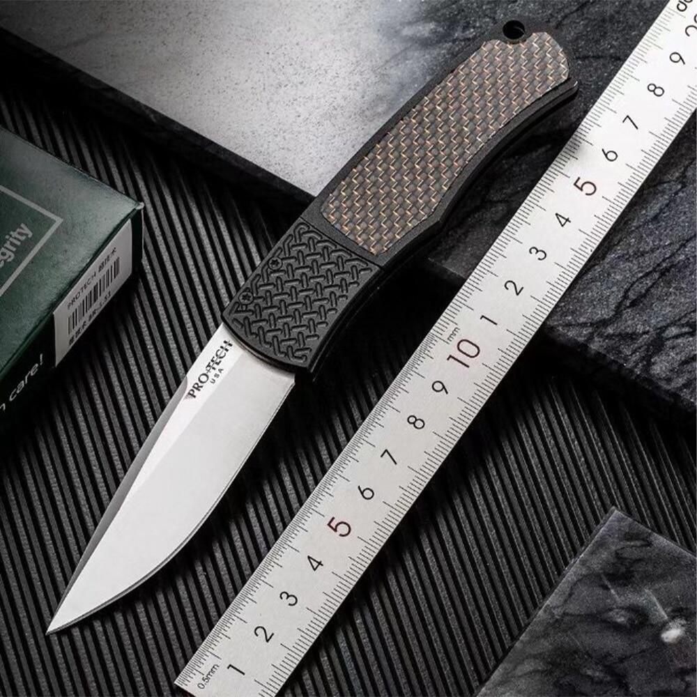 بروتيتش ماجيك BR-1 التخييم في الهواء الطلق سكين للفرد 154-CM الشفرة مقبض ألمونيوم سكاكين الجيب
