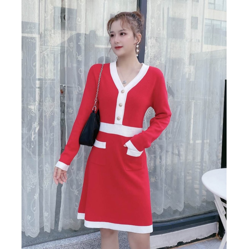 Autumn Winte women wool sweater Fashion Slim and keep warm Christmas sweater dress New year sweater dress woman sweaters dress