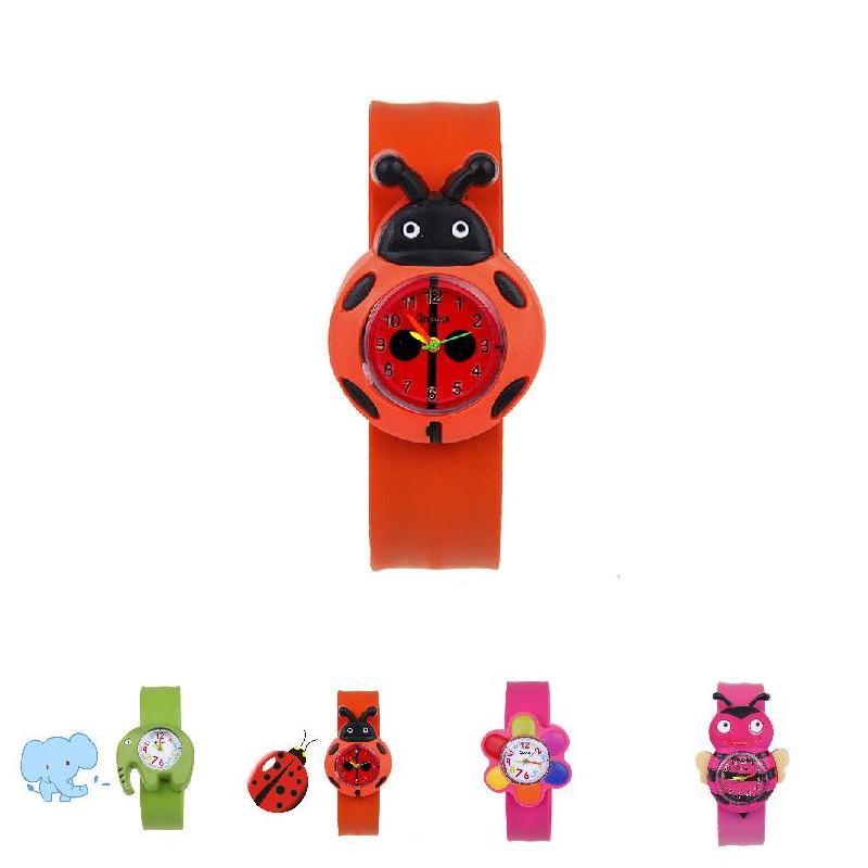 ¡Oferta! 1 Uds. Reloj de pulsera de cuarzo para niños, correa de silicona, bonito estilo de dibujos animados, regalo de cumpleaños hh88