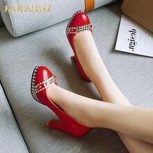 Sarairis Auf Verkauf Elegante Große Größe 48 Spike High Heels Plattform Plattform Frühling Dame Frauen Schuhe Frau Pumpen
