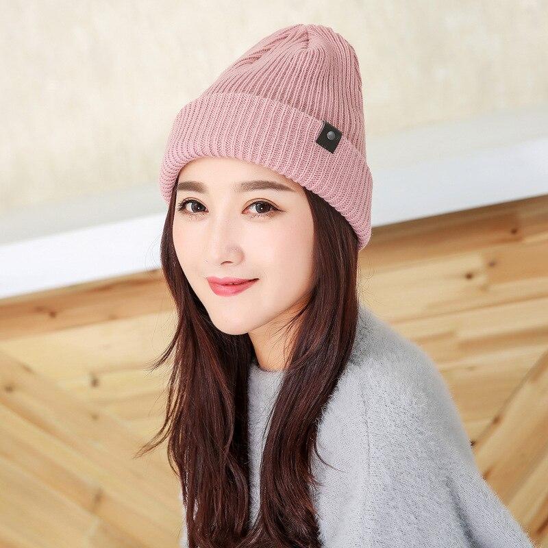 Новинка, классические мужские и женские вязаные шапки с железной пряжкой, модные шерстяные шапки на осень и зиму, шапки
