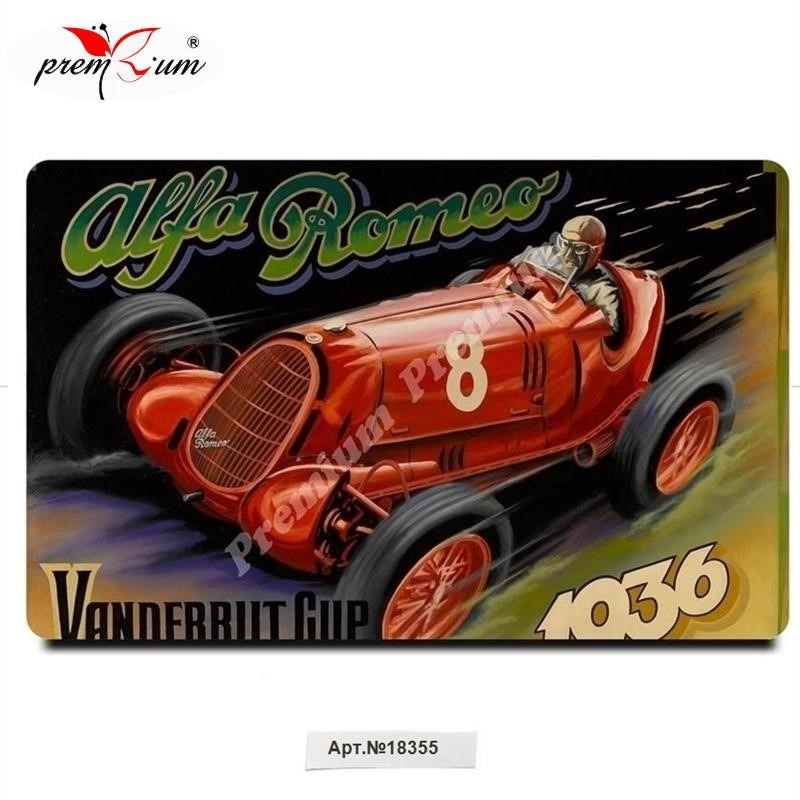 Imán de nevera souvenir Alfa Romeo cartel Vintage