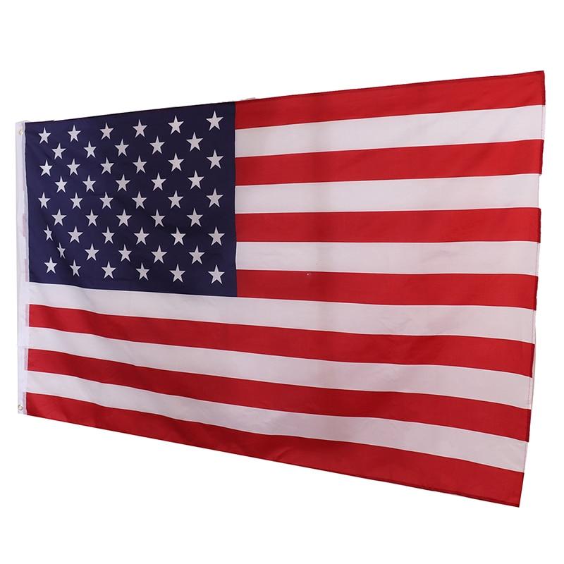 Высококачественный американский флаг 150x90 см, двусторонний Печатный Флаг США из полиэстера, флаг Звезды и полосы, флаг США, британский флаг