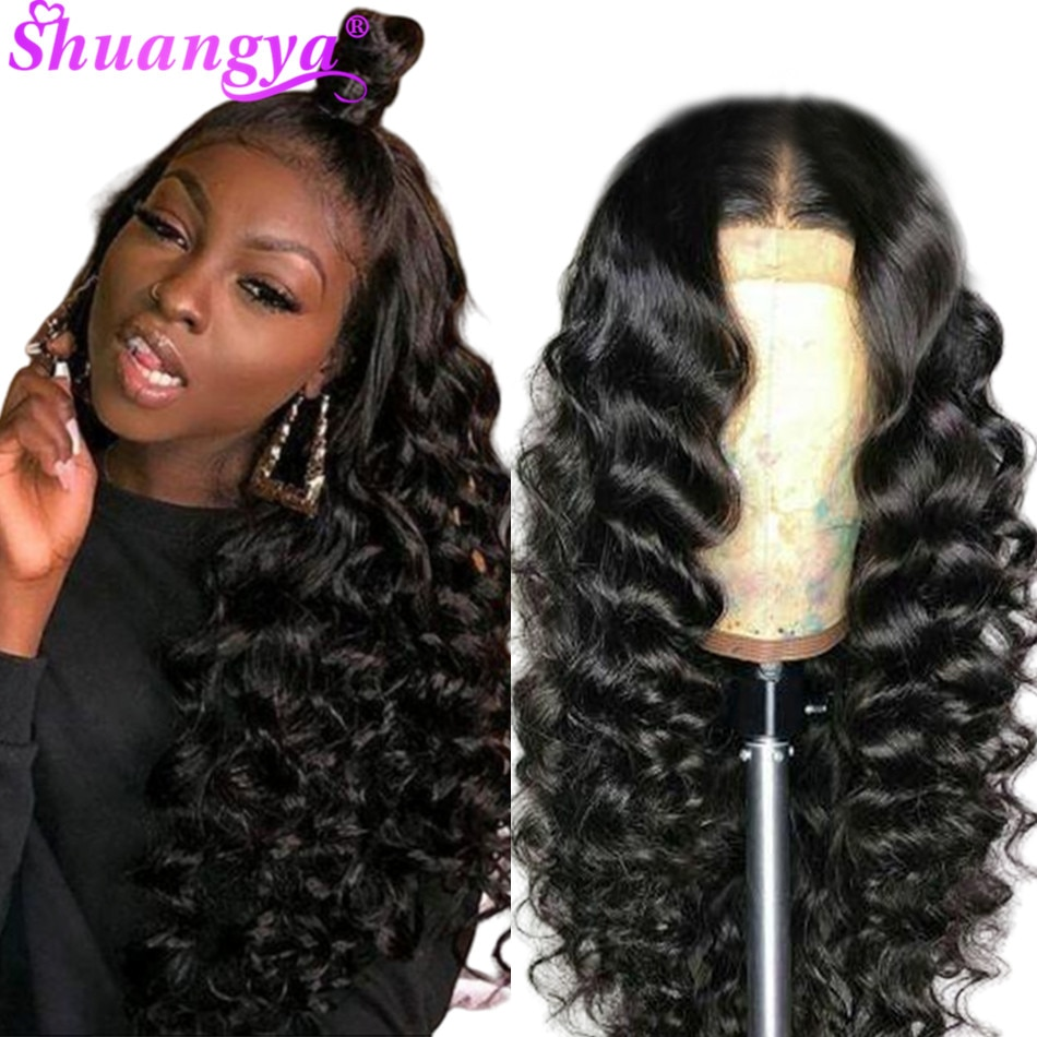 Pelucas de cabello humano con frente de onda de encaje suelto profundo peruano pelucas de onda de encaje Frontal Pre desplumadas con pelucas de encaje Frontal de pelo de bebé