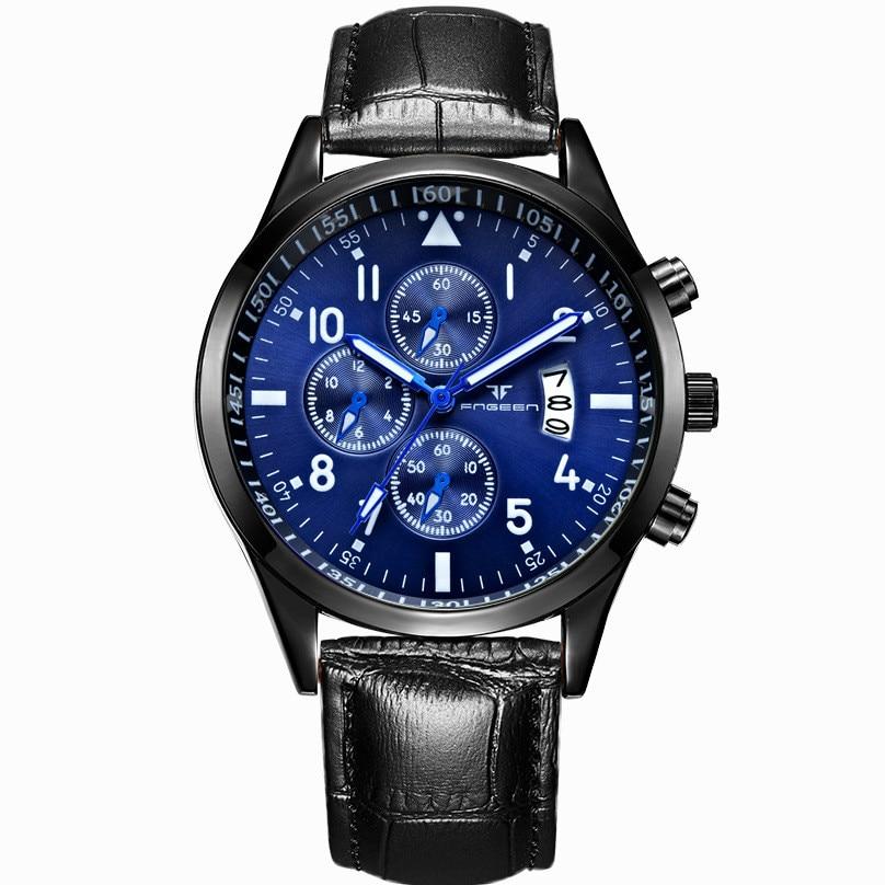 Multifunctional Watch Men's Waterproof Quartz Watches Men Gifts Alloy Business Stainless Steel...