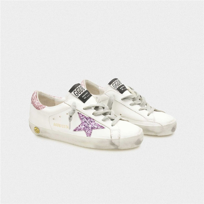 2021 Spring and Summer New Children's  Sequined Stars Retro Old Small Dirty Shoes Boys and Girls Casual Kids Fashion Shoes CS198 enlarge