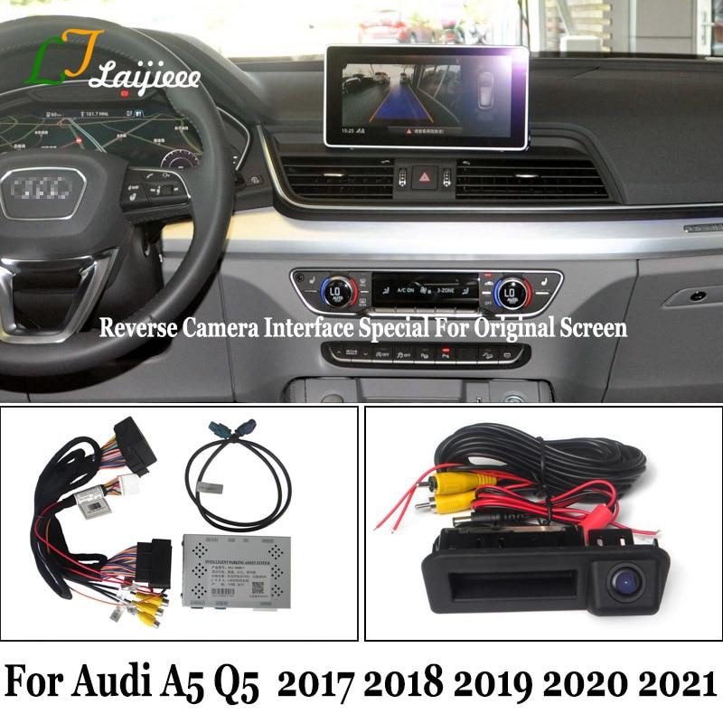 For Audi A5 B9 8W Q5 FY 2017 2018 2019 Original Screen MIB System No Need Coding HD Rear View Cam Backup Reverse Camera Kit