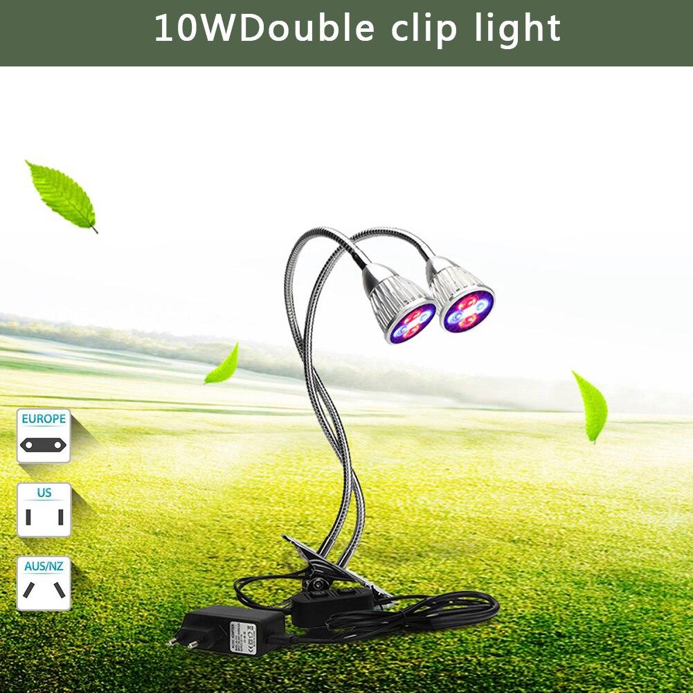 5W LED focos de luz para lámparas de escritorio Flexible titular Clip de las plantas de interior