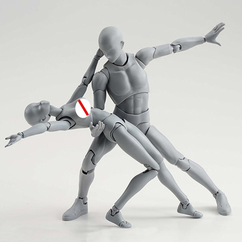 Художественная фигурка художника 14 см, аниме, эскиз, рисование, мужской, женский, подвижное тело, экшн-фигурка Тян, игрушка, модель, манекен 001