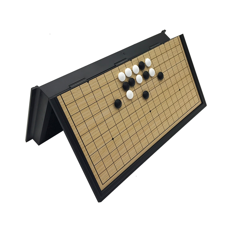 Chinese old board Game Weiqi Checkers Folding Table magnetic Go chess set magnetic chess game toy gifts plastic go game Yernea