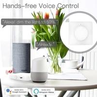ZigBee     interrupteur variateur lumineux rotatif tactile intelligent  pour maison connectee  avec application Tuya  telecommande  Alexa  Google Voice assistant  EU