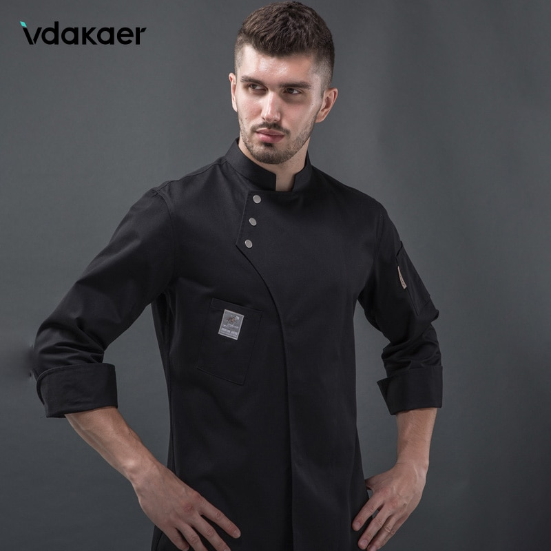 Long Sleeve Chef Clothes Uniform Restaurant Kitchen Cooking Chef Coat Waiter Work Jackets Professional Uniform Overalls Outfit