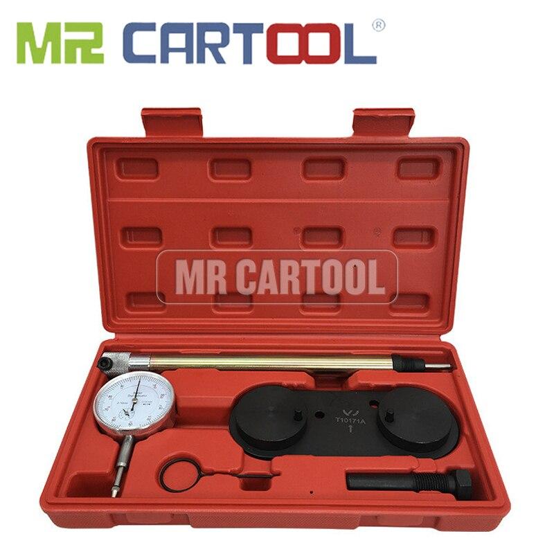 MR CARTOOL инструмент для синхронизации цепи двигателя для VW Audi 1,4, 1,4 T 1,6 FS с манометром T10171 инструмент для ремонта автомобиля