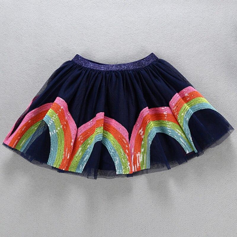 Lentejuelas tutú niñas faldas ropa de niño lentejuelas multicolor de moda Falda plisada de princesa niños falda de malla niñas niños fiesta falda