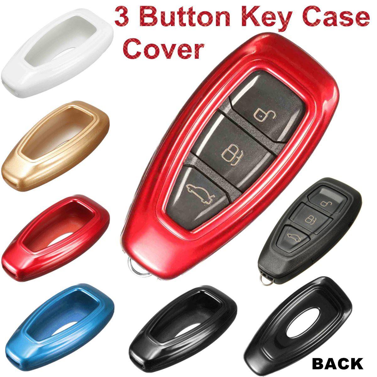 5 di Colore di Plastica 3 Auto Tasto Chiave a Distanza Caso Della Copertura Fob per Ford/Fiesta/Focus/Mondeo/ kuga