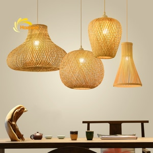 Chinese Classical Bamboo LED Pendant Lamp Vintage Loft Restaurant Decoration Pendant Lights Lighting Kitchen Hanging Lamp Lights