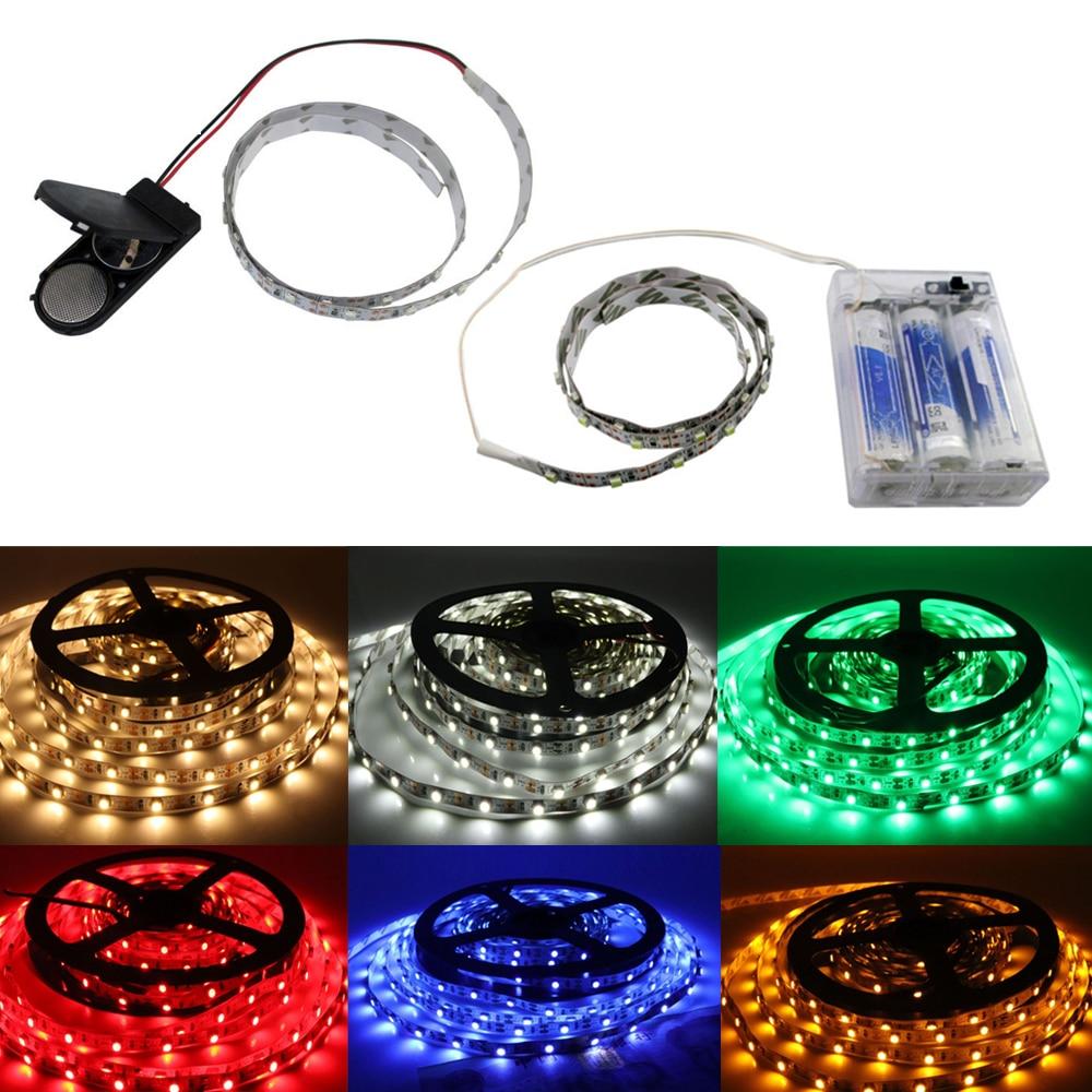 2835 LED Strip Light 3528 SMD 5V 3V DC Battery Box Powered LED Tape DIY Decorative Home Decoration Waterproof 8mm White PCB 5m
