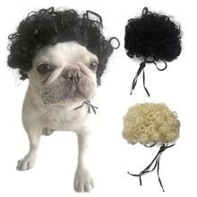 Pet Dog Wig Pet Costumes Headdresses Dog Headwear for Halloween Christmas Eve Festival Party Decor D