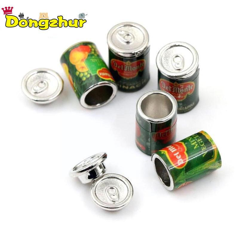 Dongzhur 5Pc 1:12 Doll House Accessories Mini Canned Toy Miniature Accessories Cans Play Kitchen Food 5 Fruit Food Doll Y3T6