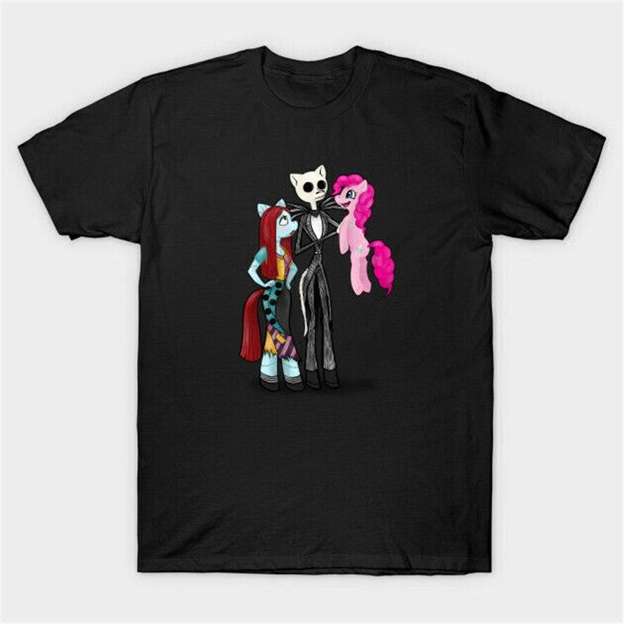 Mi pequeña pesadilla antes de Navidad Pinkie Pie Jack Sally negro camiseta S-3Xl 2Xl 3Xl 4Xl 32Xl camiseta