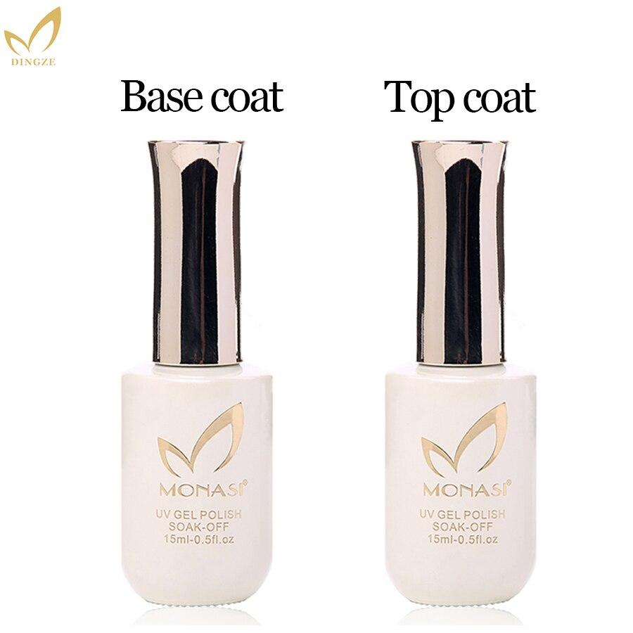 Di alta Qualità Gel Per Unghie Vernice Unghie artistiche Soak Off UV/LED PIÙ SPESSO Strato di Base Senza Strato Appiccicoso prodotti per superficie e smalti