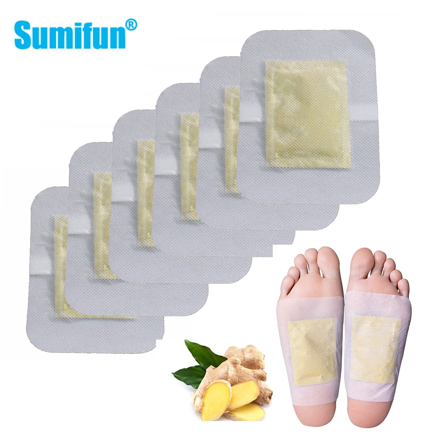 6Pcs Ginger Detox Foot Patch Loss Weight Foot Patch Improve Sleepping Anti-swelling Detox Chinese Herbal Medical Foot Patch недорого