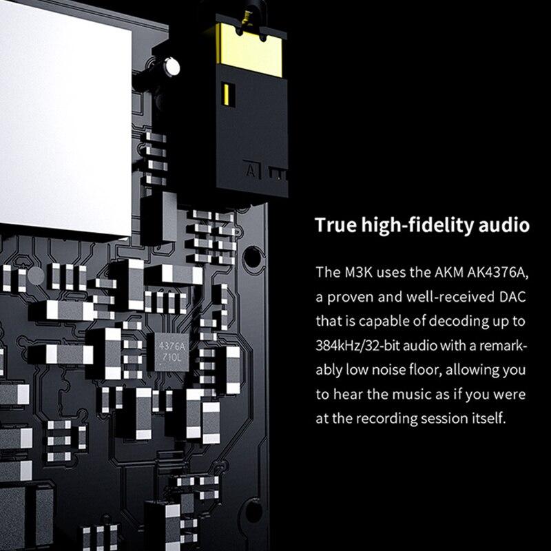 FIIO M3K Mini HIFI Hi-Res Lossless Portable Music Player MP3 AK4376A DAC chips High-fidelity recording 24hours Battery Life enlarge