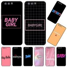BABY Babe babygirl miód linii tekst przypadku telefonu dla Huawei Honor widok 7a5.45 cal 7c5.7 cal 8x 8a 8c 9 9x10 20 10i 20i lite pro