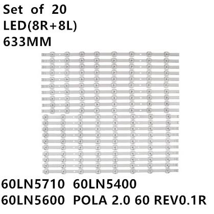 Светодиодная лента для подсветки LG 60LN549E 60LN5400 60LN5600 60LA620S 60LA6200 60LN5710, 20 шт./комплект