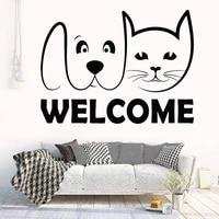 Autocollant Mural en vinyle amovible  FB-61  decoration pour animaux domestiques  chat  chien  toilettage  Art Mural pour la maison