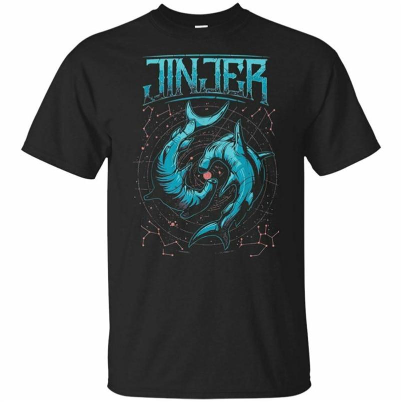 Camiseta Jinjer para hombre de manga corta negro talla S-3XL Estilo libre