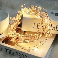 5m pearlized fairy lights 50 led lights battery powered copper wire string lights for wedding home party christmas decorations