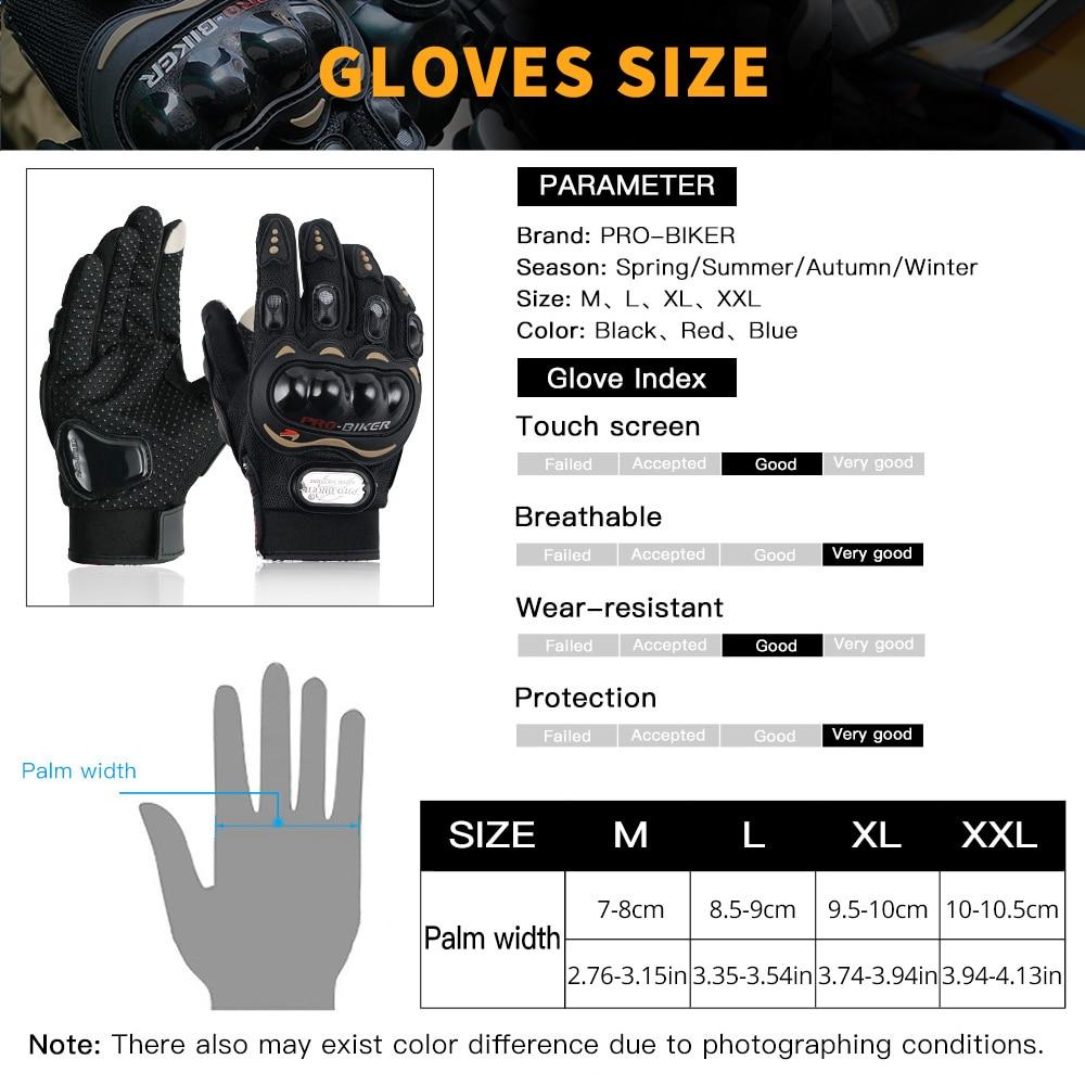 PRO-BIKER Motorcycle Gloves Luvas Guantes Moto Motocross Breath Full Finger Racing Motorbike Bicycle Glove Protective Gears