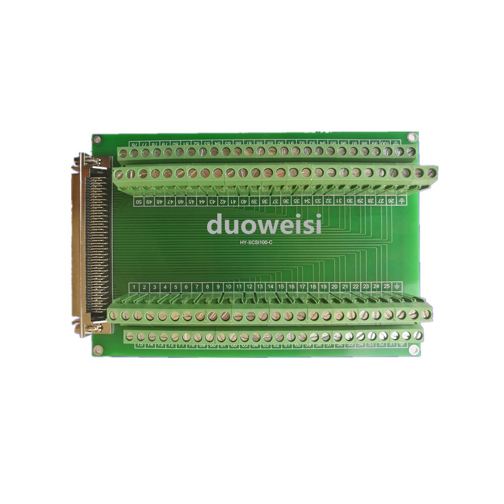 SCSI100 شاحن أنثي محطة كتلة HY-SCSI100-C متوافق مع آدم-39100 و DIN-100S-01